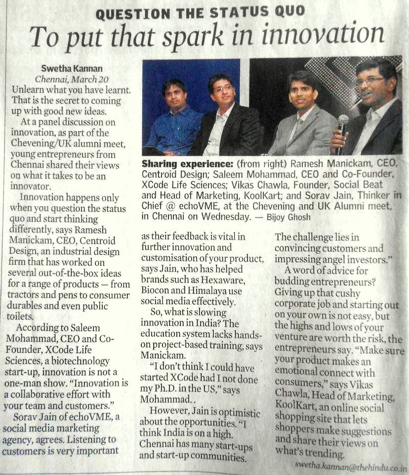 Sorav in Indian Express - March 2013