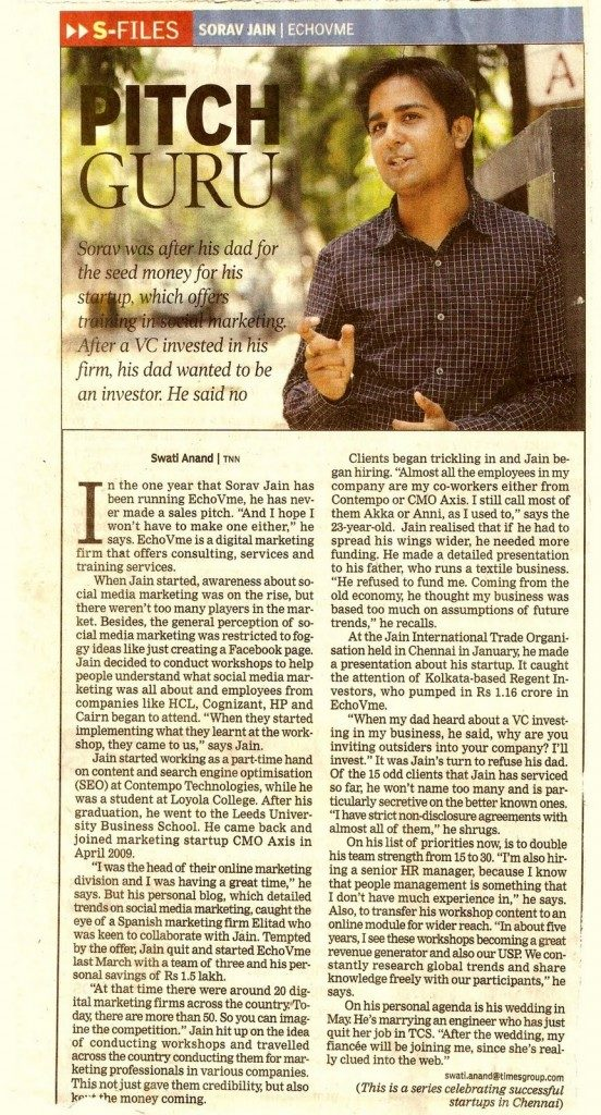 sorav in times of India