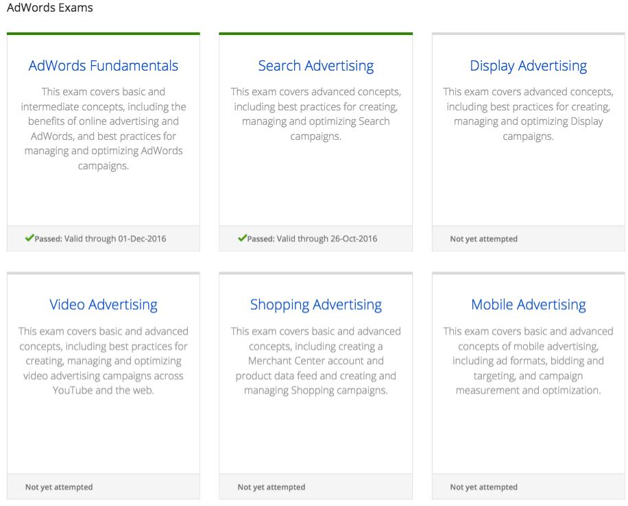 google adwords fundamental study guide