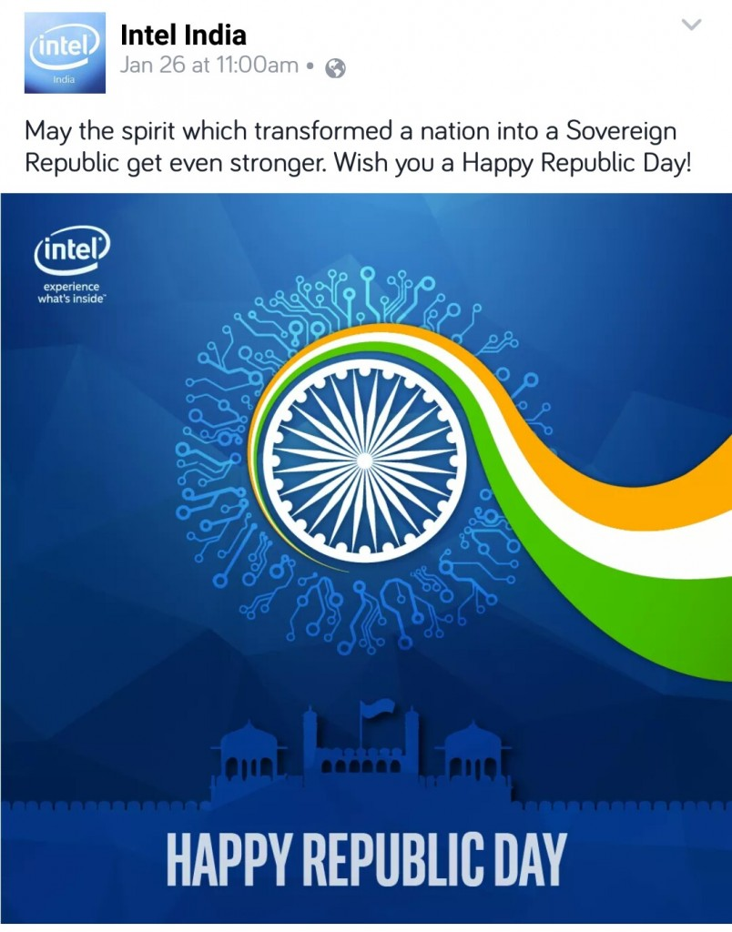 Intelindia: 16 Facebook Post Ideas By Brands On Republic Day
