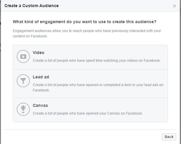 Create a new Custom Audience