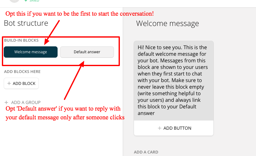 facebook welcome page templates - how to create a facebook messenger chat bot without coding