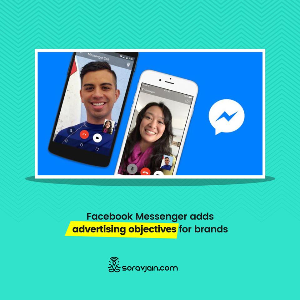 Facebook Messenger adds advertising objectives for brands