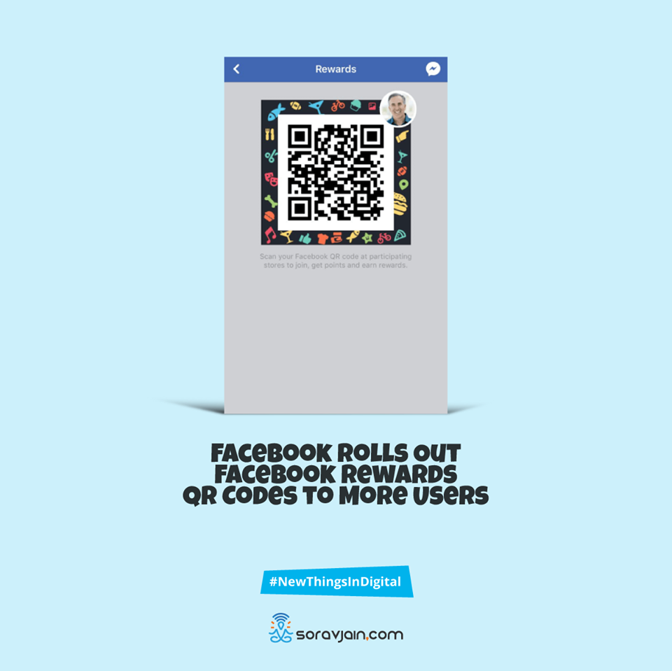 Facebook rolls outs facebook rewards QR codes to more users