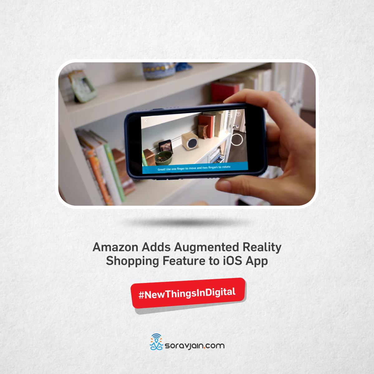 Amazon Adds Augmented Reality Shopping Feature to iOS App