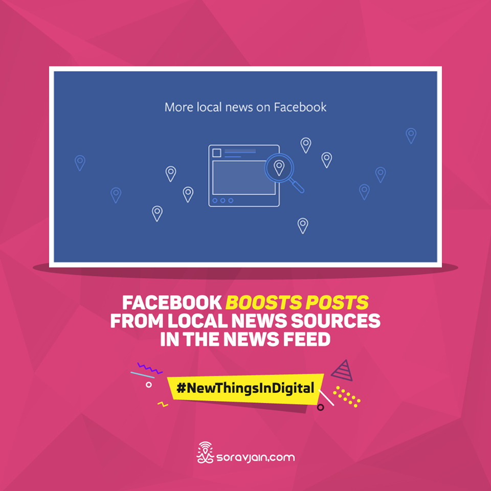 Facebook Boosts Posts From Local News Sources in the News Feed