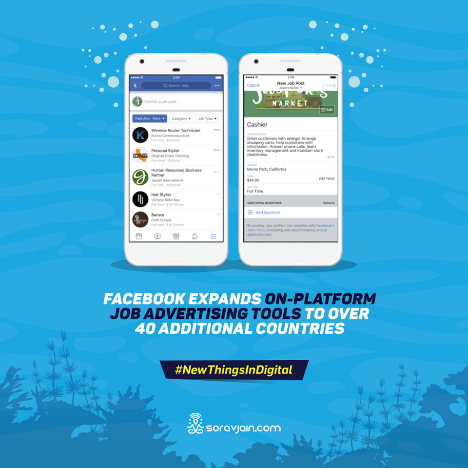 Facebook Expands On-Platform Job Advertising Tools to Over 40 Additional Countries