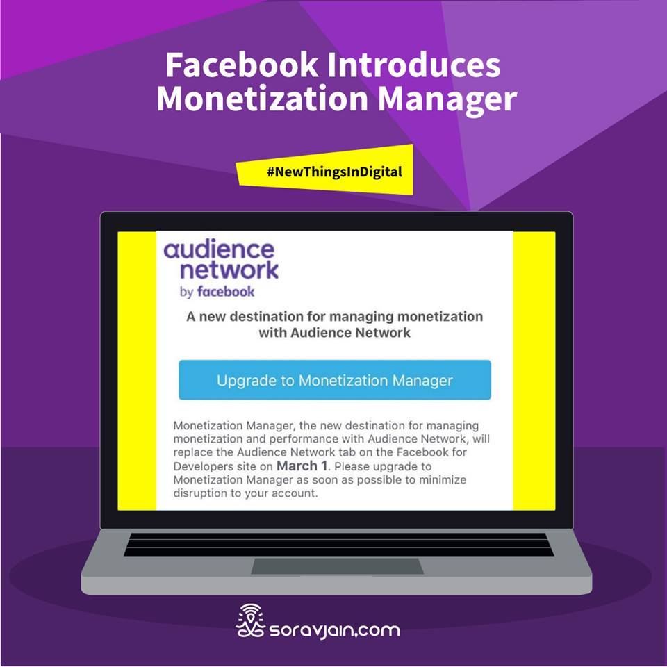 Facebook Introduces Monetization Manager