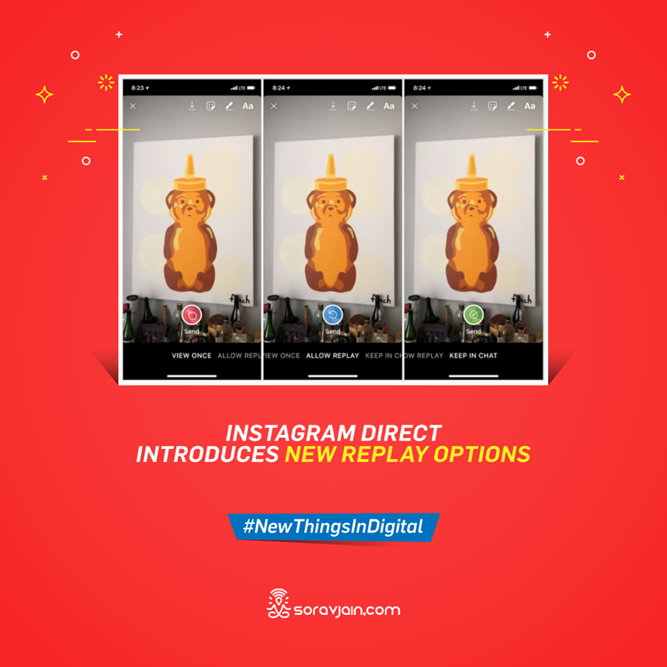 Instagram Direct Introduces New Replay Options