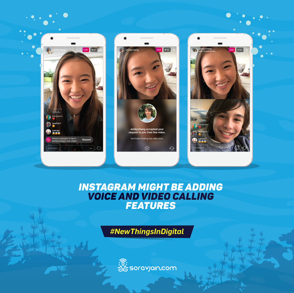 Instagram Might be adding Voice and Video Calling Features