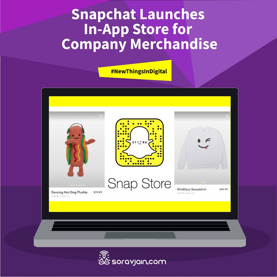 Snapchat Launches In-App Store for Company Merchandise