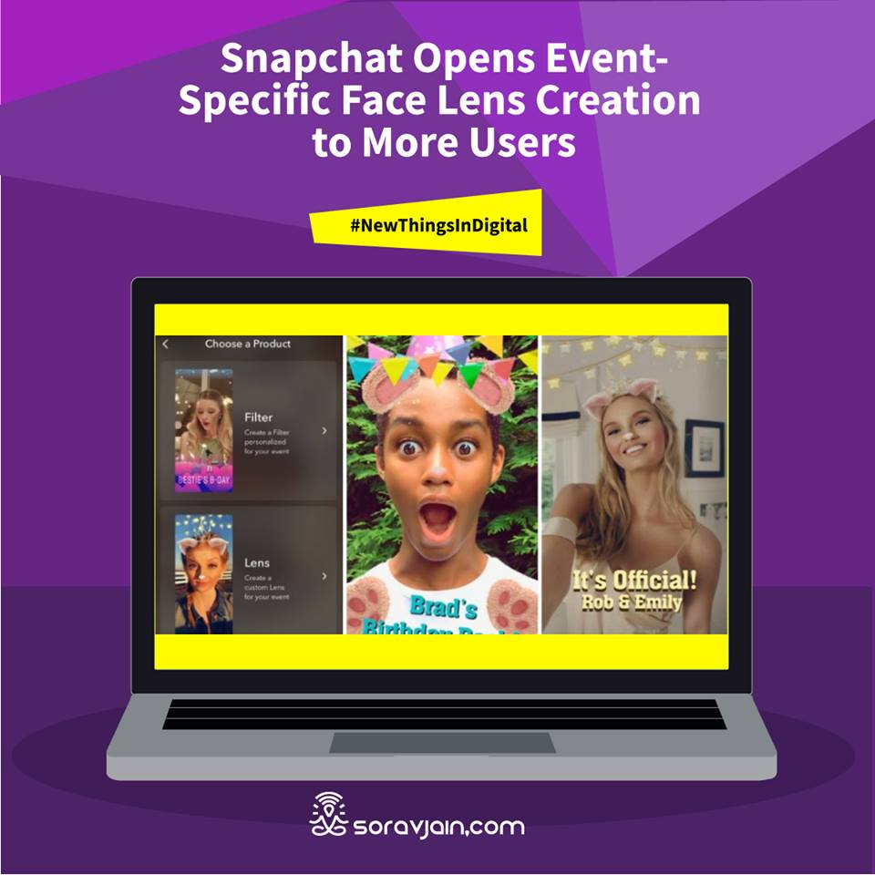 Snapchat Opens Event-Specific Face Lens Creation to More Users