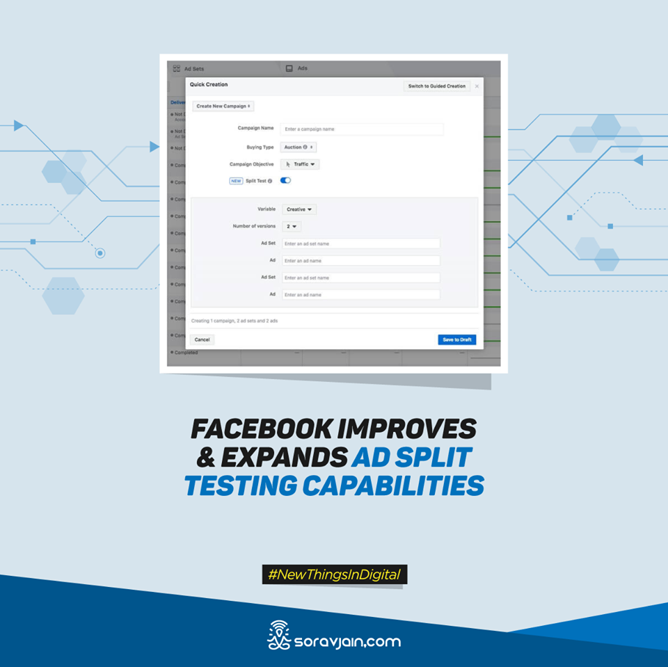 Facebook Improves and Expands Ad Split Testing Capabilities