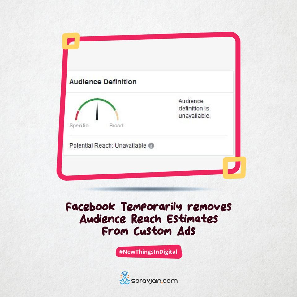Facebook Temporarily removes Audience Reach Estimates From Custom Ads