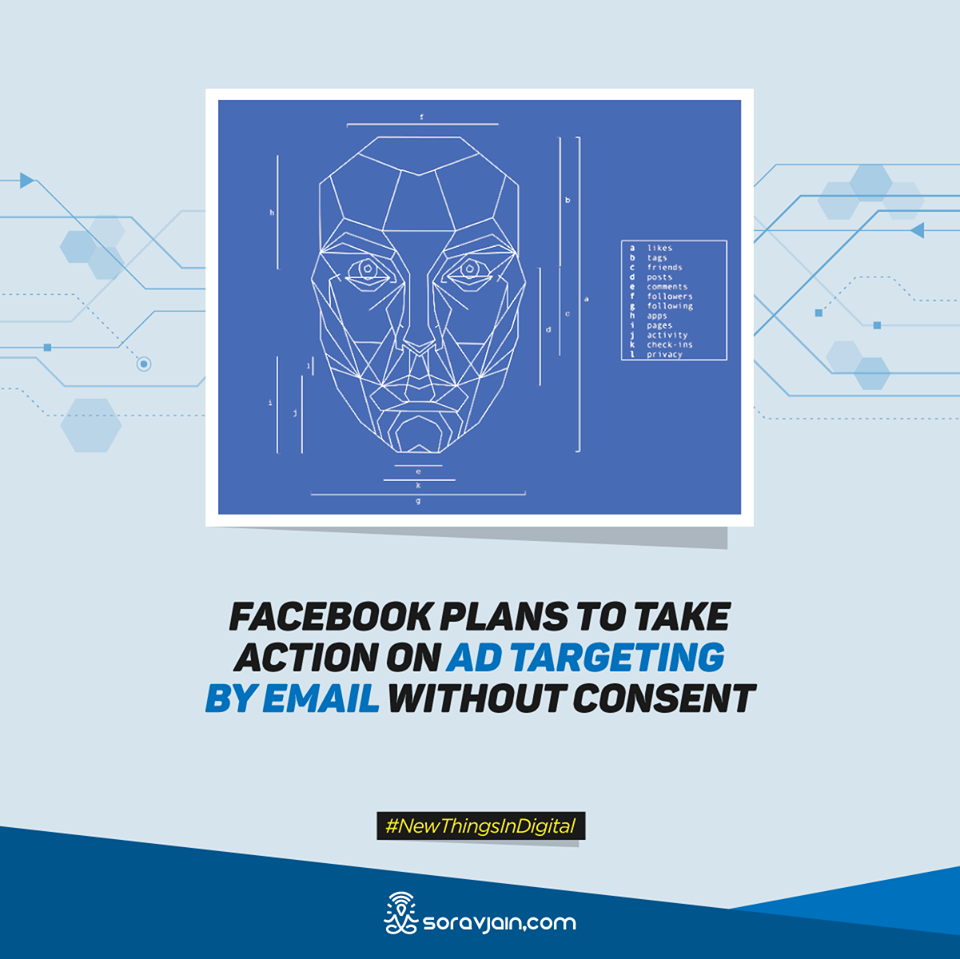 Facebook plans to take action on Ad Targeting by Email Without Consent