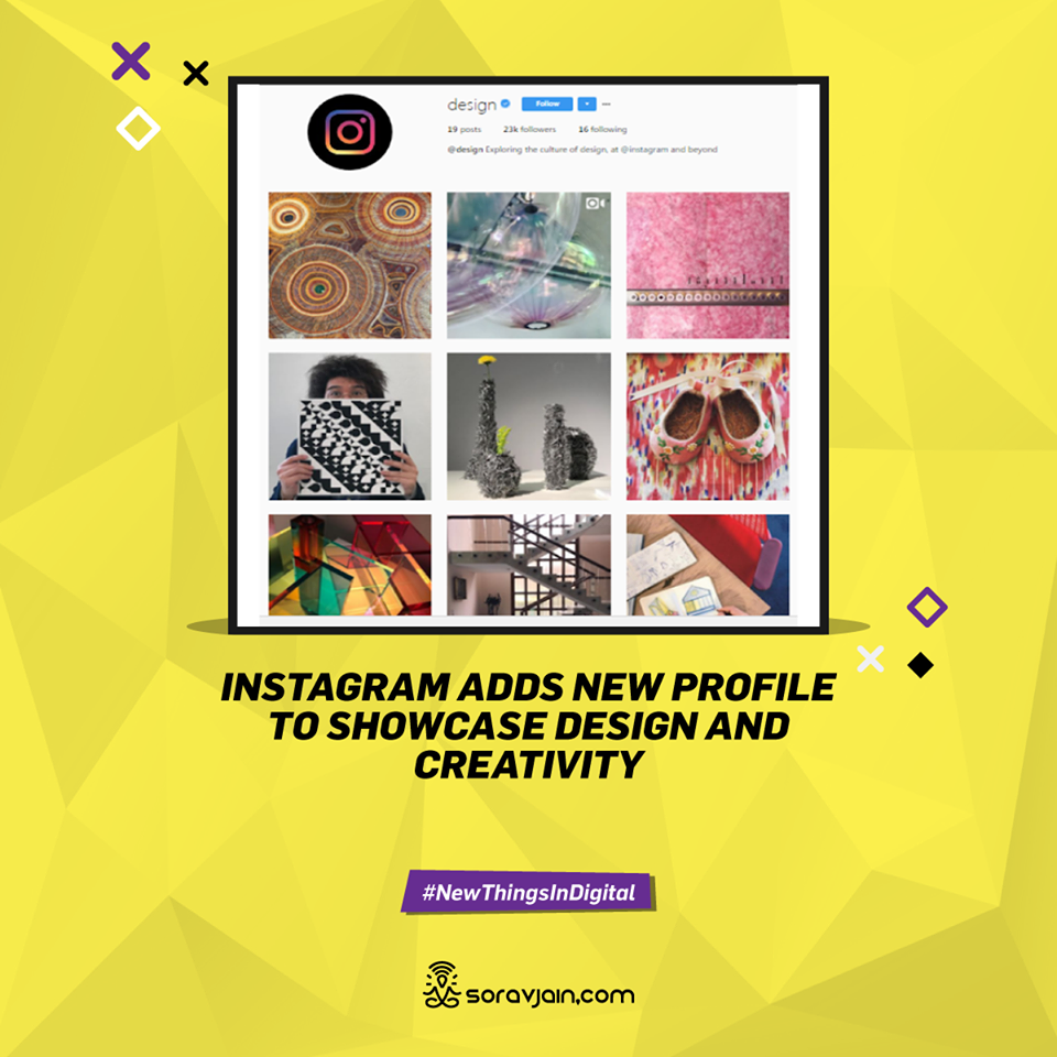 Instagram Adds New Profile to Showcase Design and Creativity