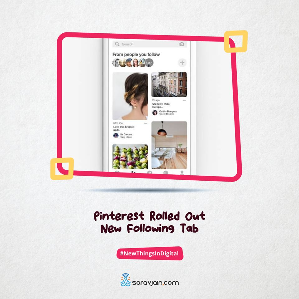 Pinterest Rolled Out New Following Tab