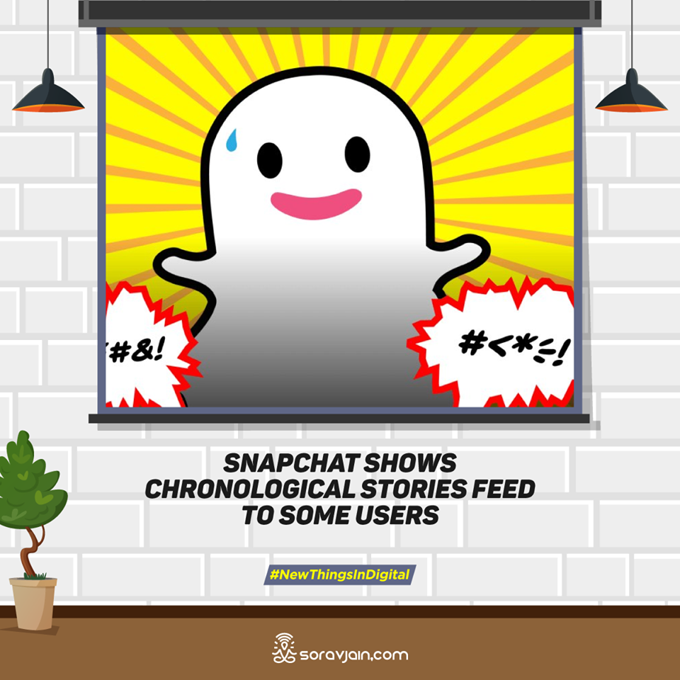 Snapchat Shows Chronological Stories Feed to Some Users