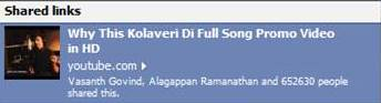 why this kolaveri d song 652630 people shared