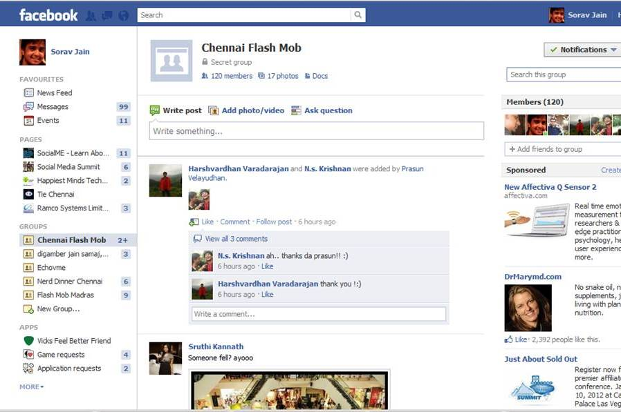 Facebook Chennai Flash Mob Group