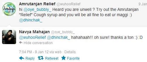 Amrutanjan Relief responses- twitter