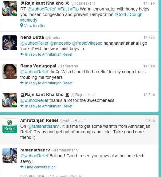 twitter responses-amrutanjan relief