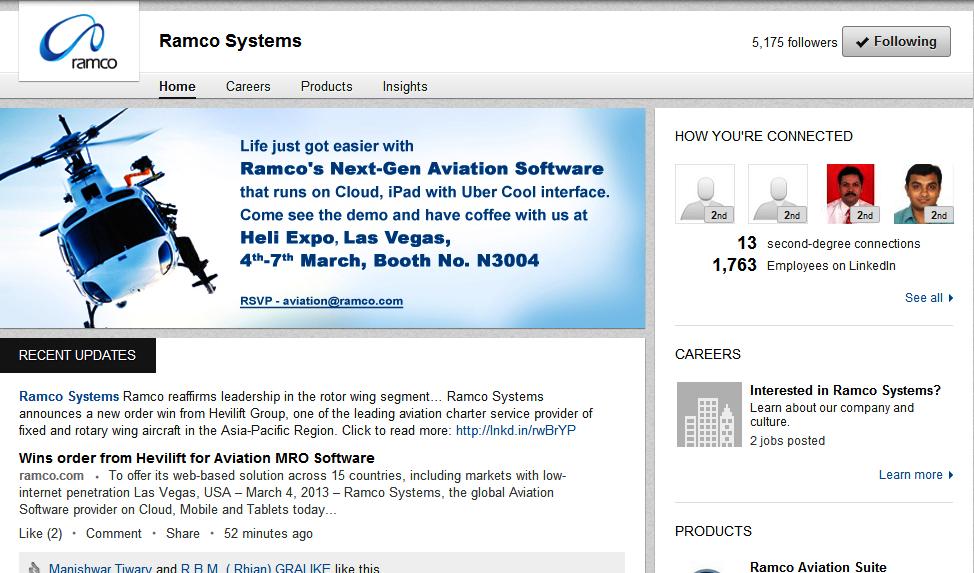 Ramco LinkedIn Company Page