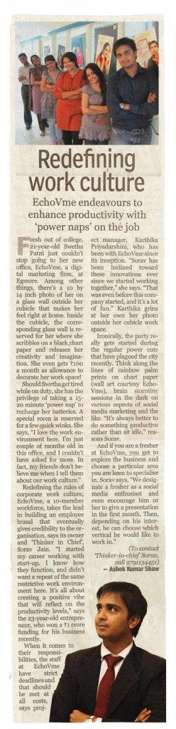 Sorav in Indian Express - June 2011