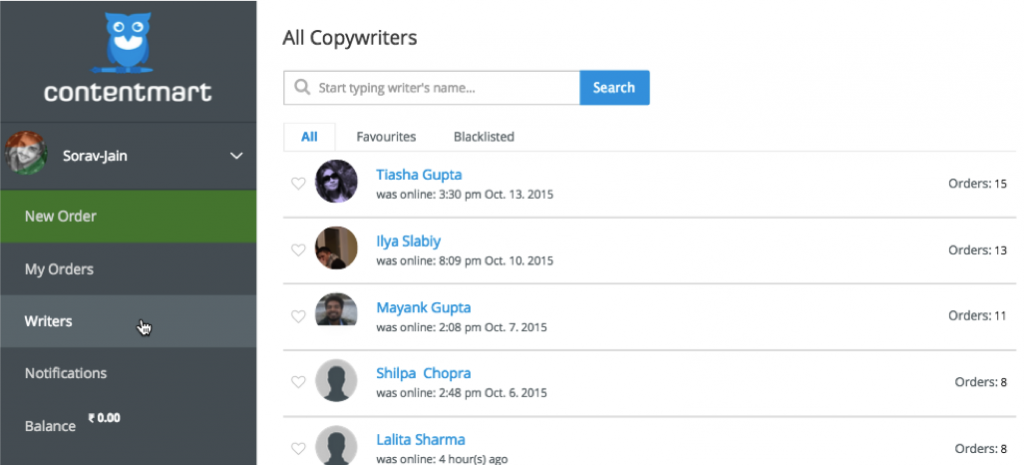 Copy Writer India