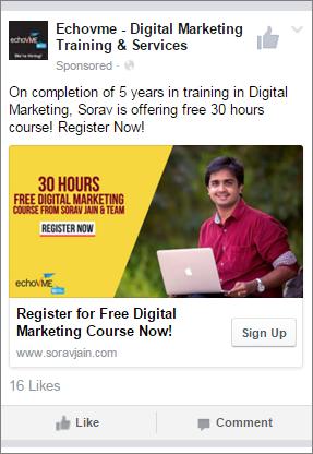 One click website conversion Ad