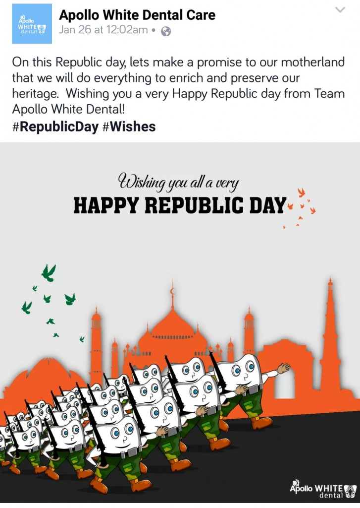 16 Facebook Post Ideas By Brands On Republic Day Social Media Case