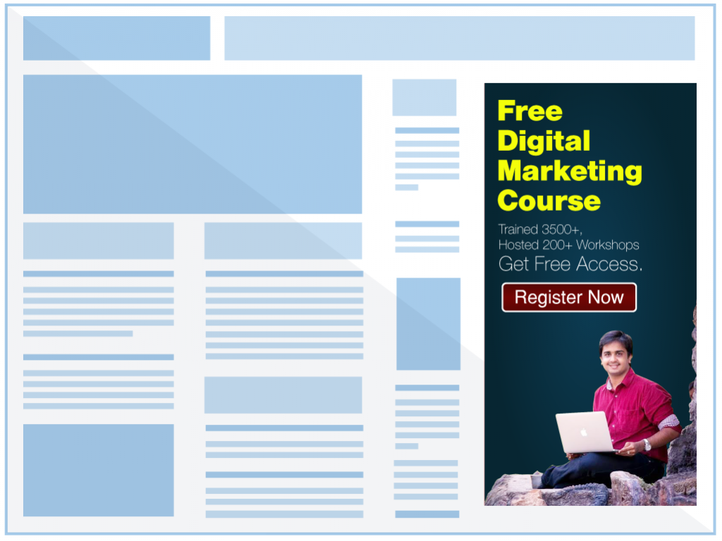 half page display ad size
