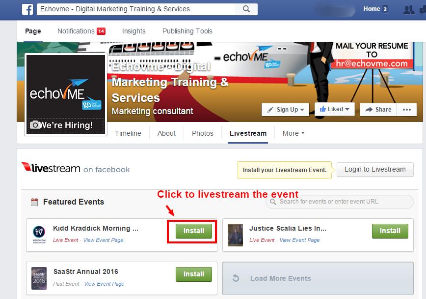 Facebook Livestream