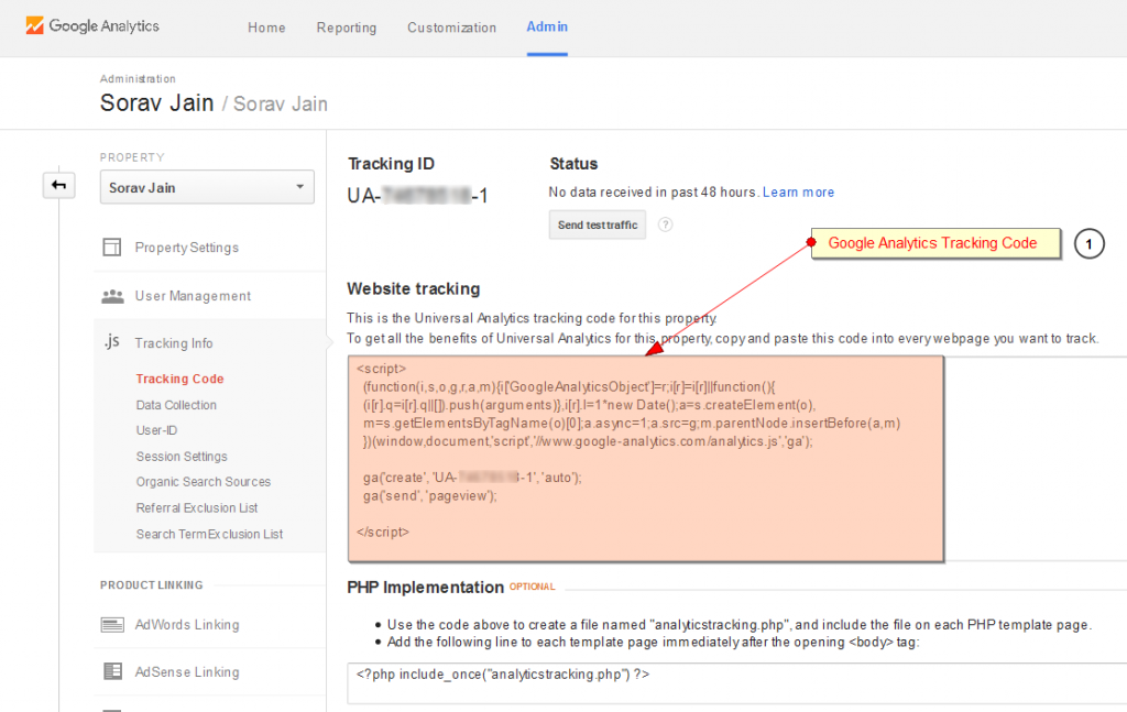 Google Analytics-tracking code