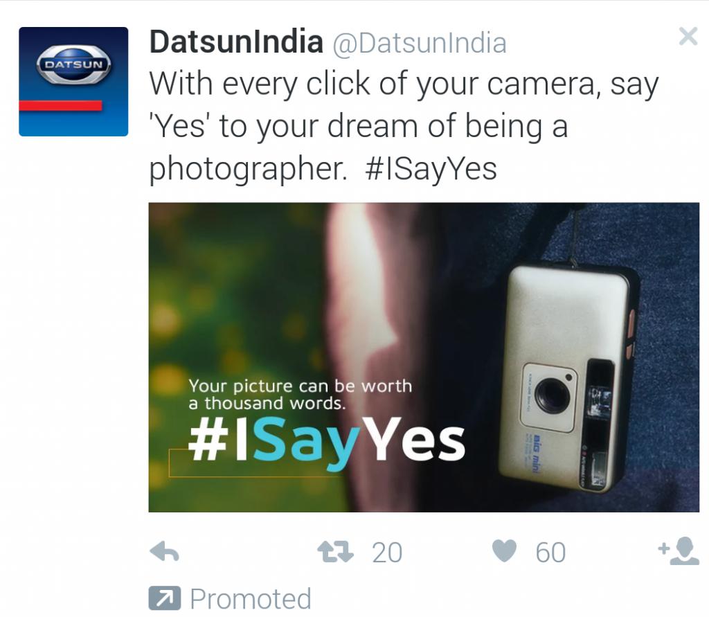 Dat Sun India Twitter Ad