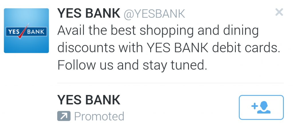 yes bank twitter ad
