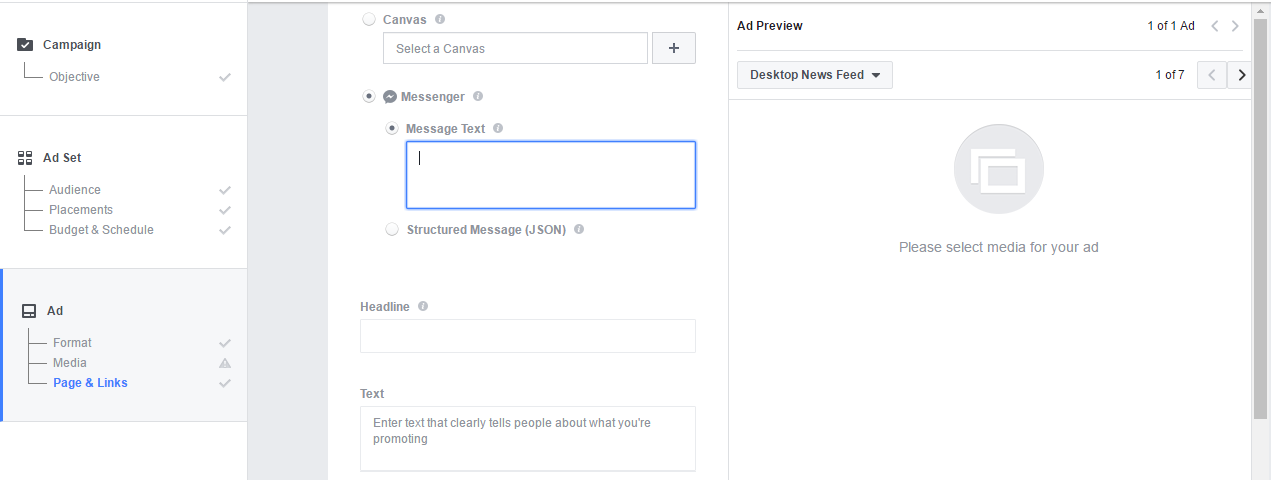 How to Create a Messenger Destination Ad