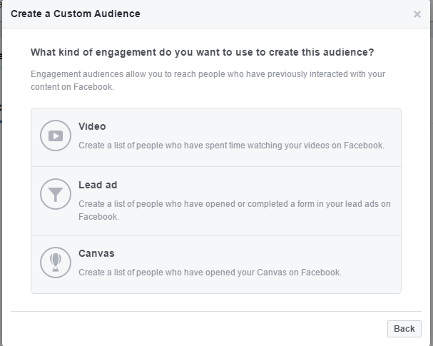 Create a new Custom Audience