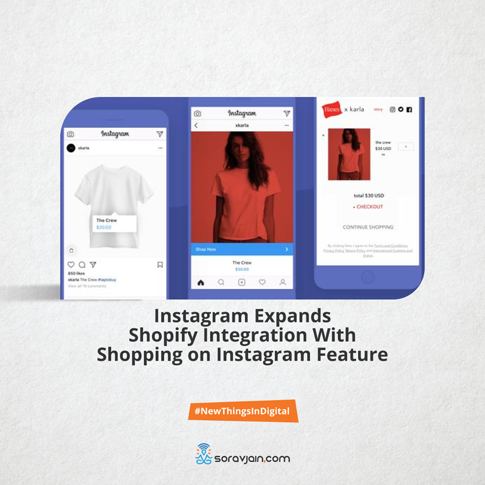 Instagram expands shopify integration with shopping on instagram feature