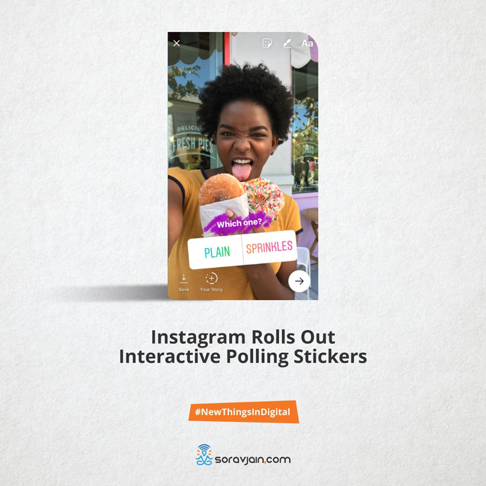 Instagram rolls out interactive polling stickers