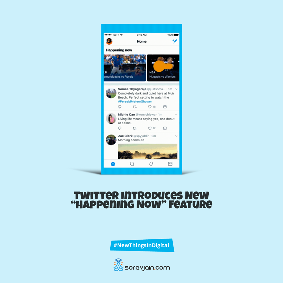 "Twitter introduces new ""happening now"" feature"