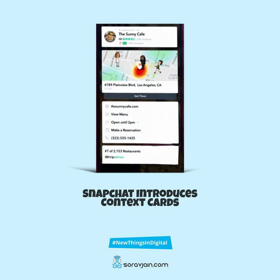 Snapchat introduces context cards
