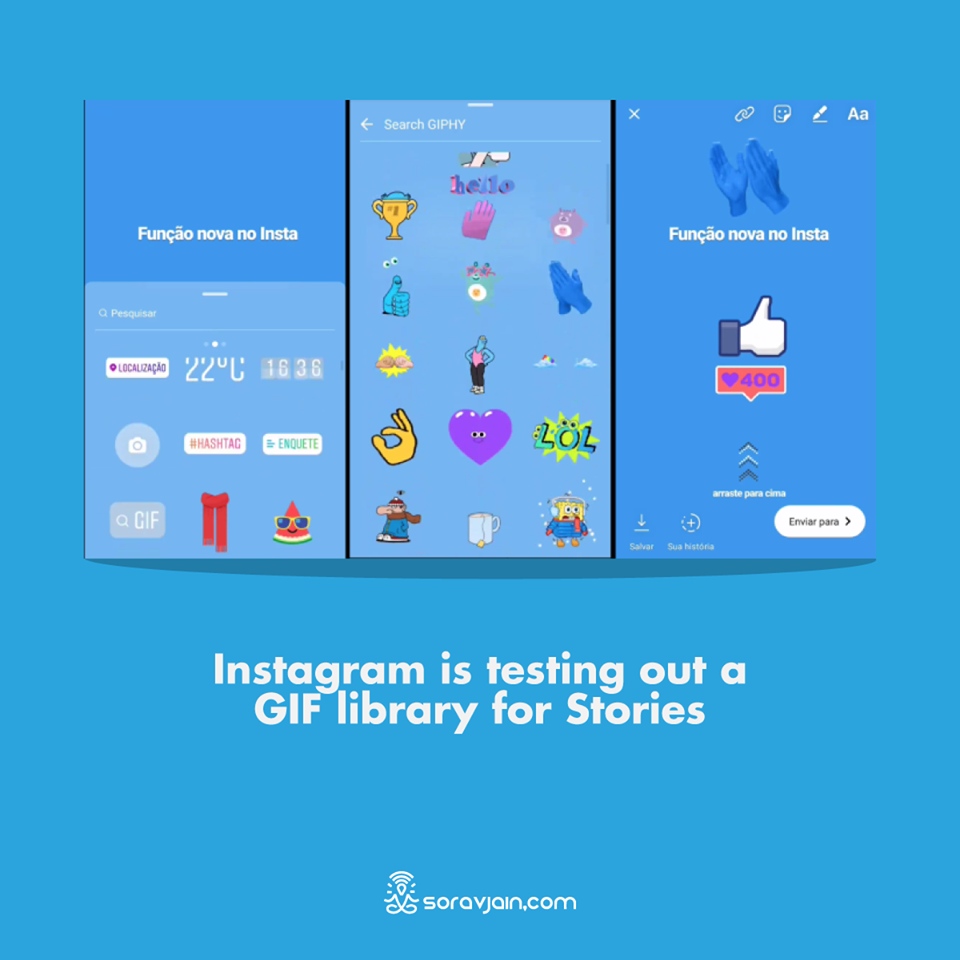 Instagram is testing out a GIF library for Stories