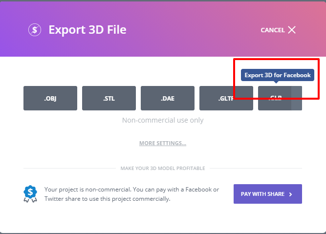 facebook 3d design guide