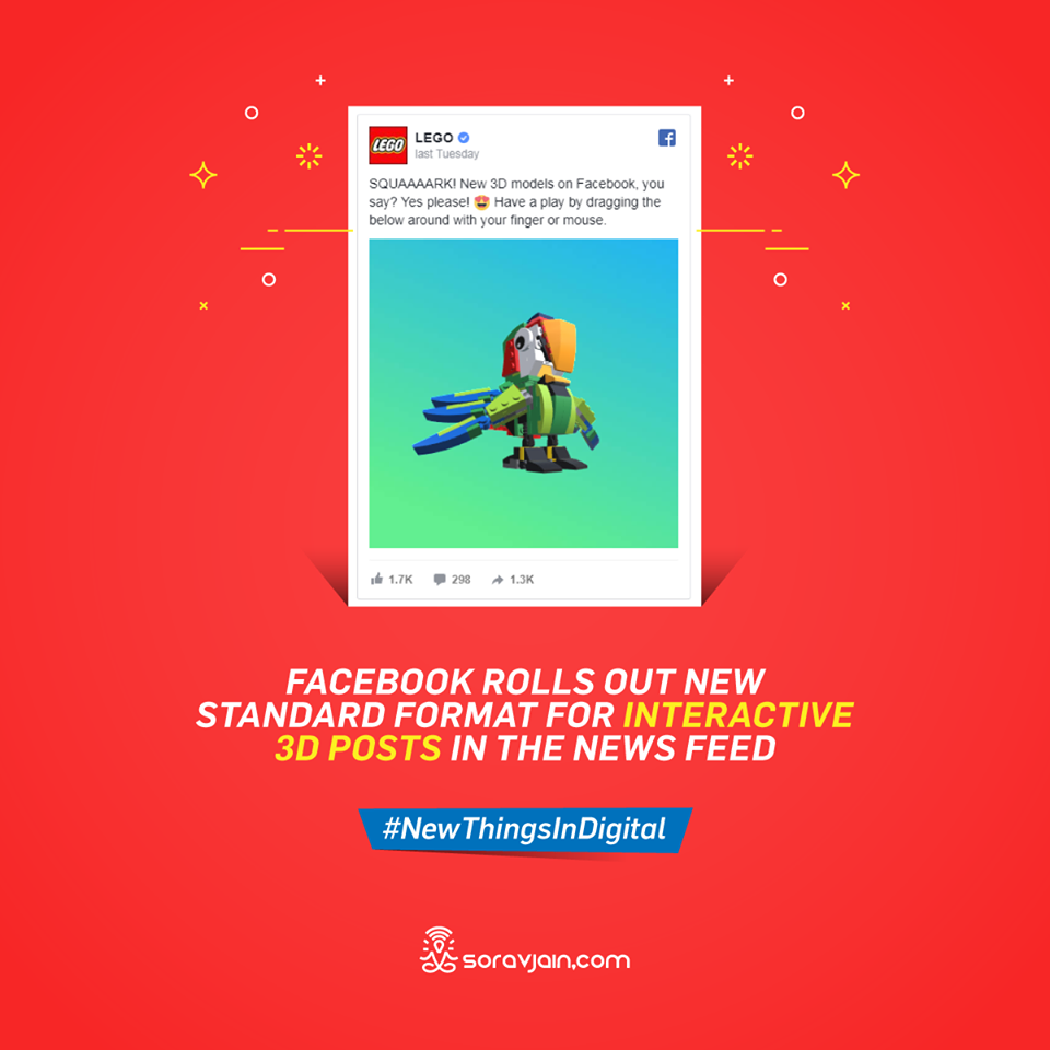 Facebook Rolls Out New Standard Format for Interactive 3D Posts in the News Feed