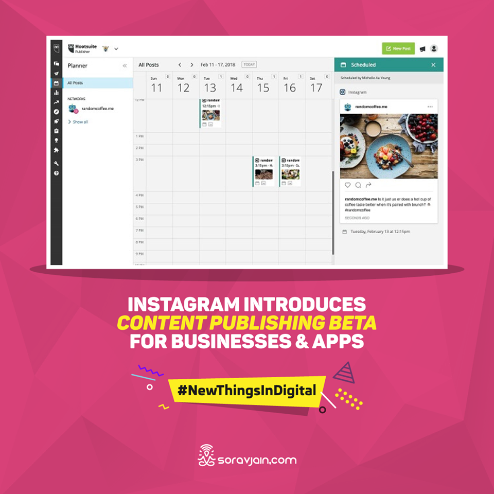 Instagram Introduces Content Publishing Beta for Businesses and Apps