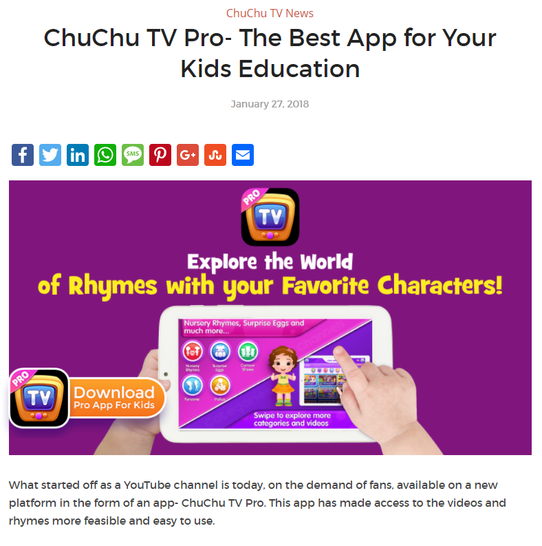 ChuChu TV - Social Media Marketing Case Study | Sorav Jain