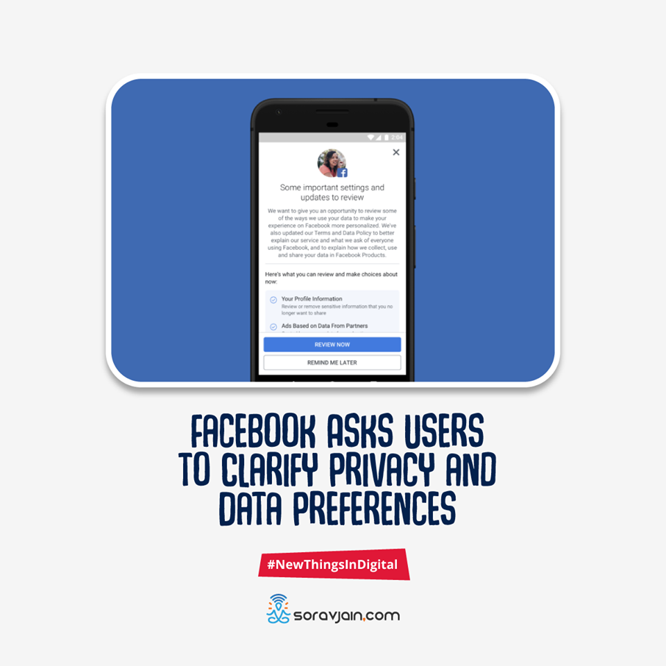 Facebook Asks Users to Clarify Privacy and Data Preferences