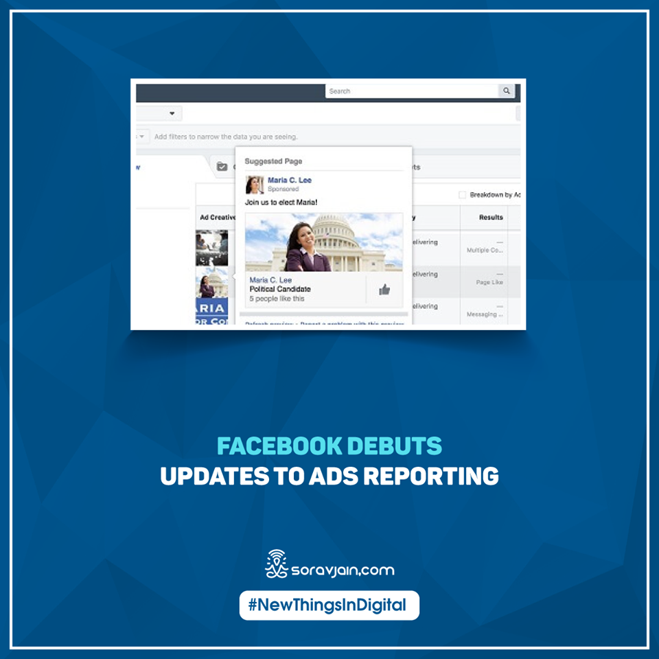 Facebook Debuts Updates to Ads Reporting