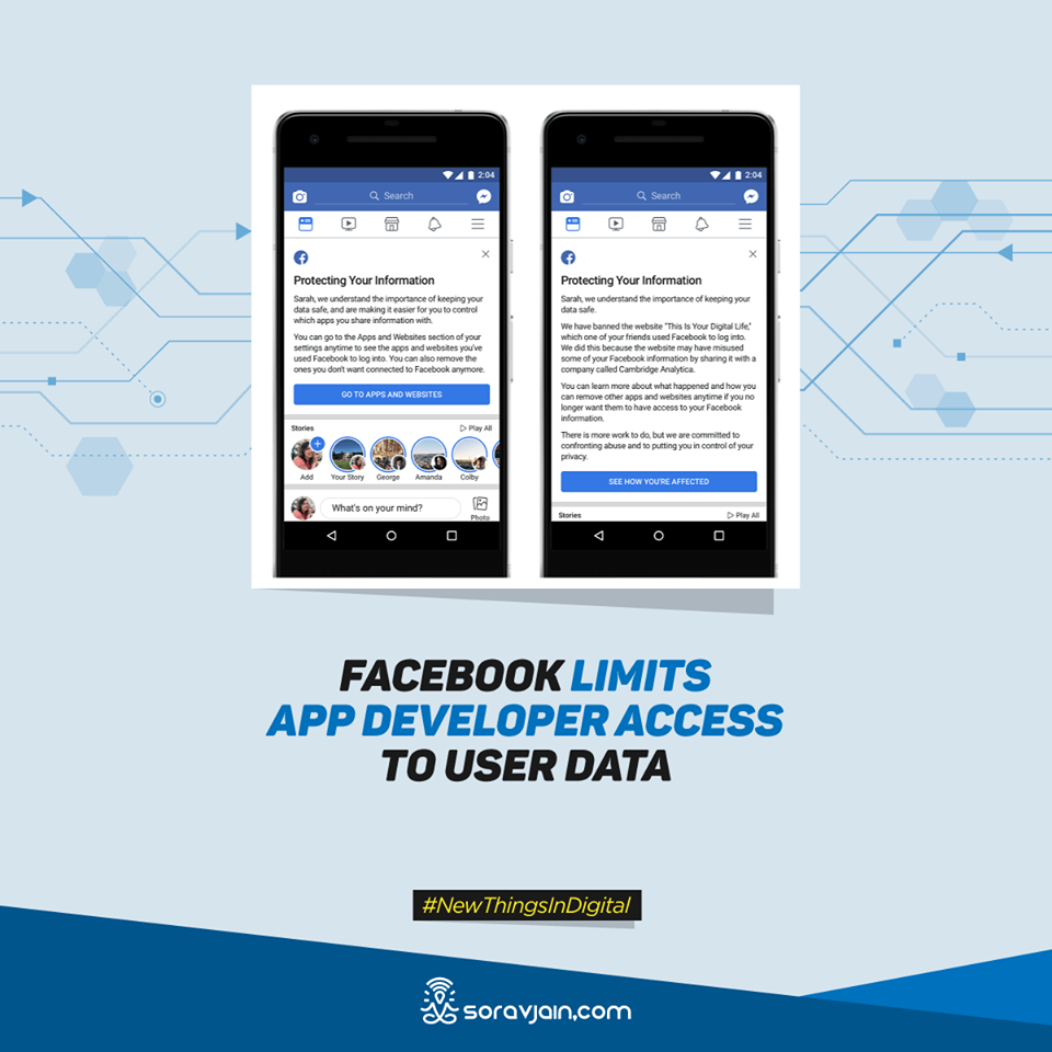 Facebook Limits App Developer Access to User Data